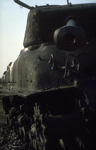 1981_Militaire-Dienst_Seedorf_Oefentanks_Sherman-tank-02t